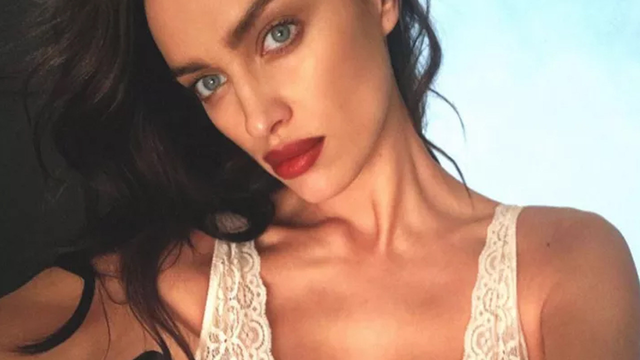 Irina Shayk, otel odasında iç çamaşırlı pozunu paylaştı