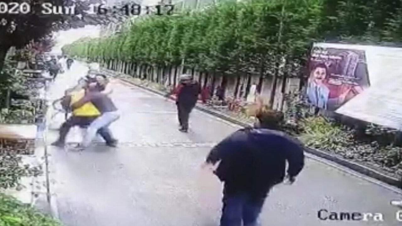 Lüks sitede ''boksör'' dehşeti kamerada!