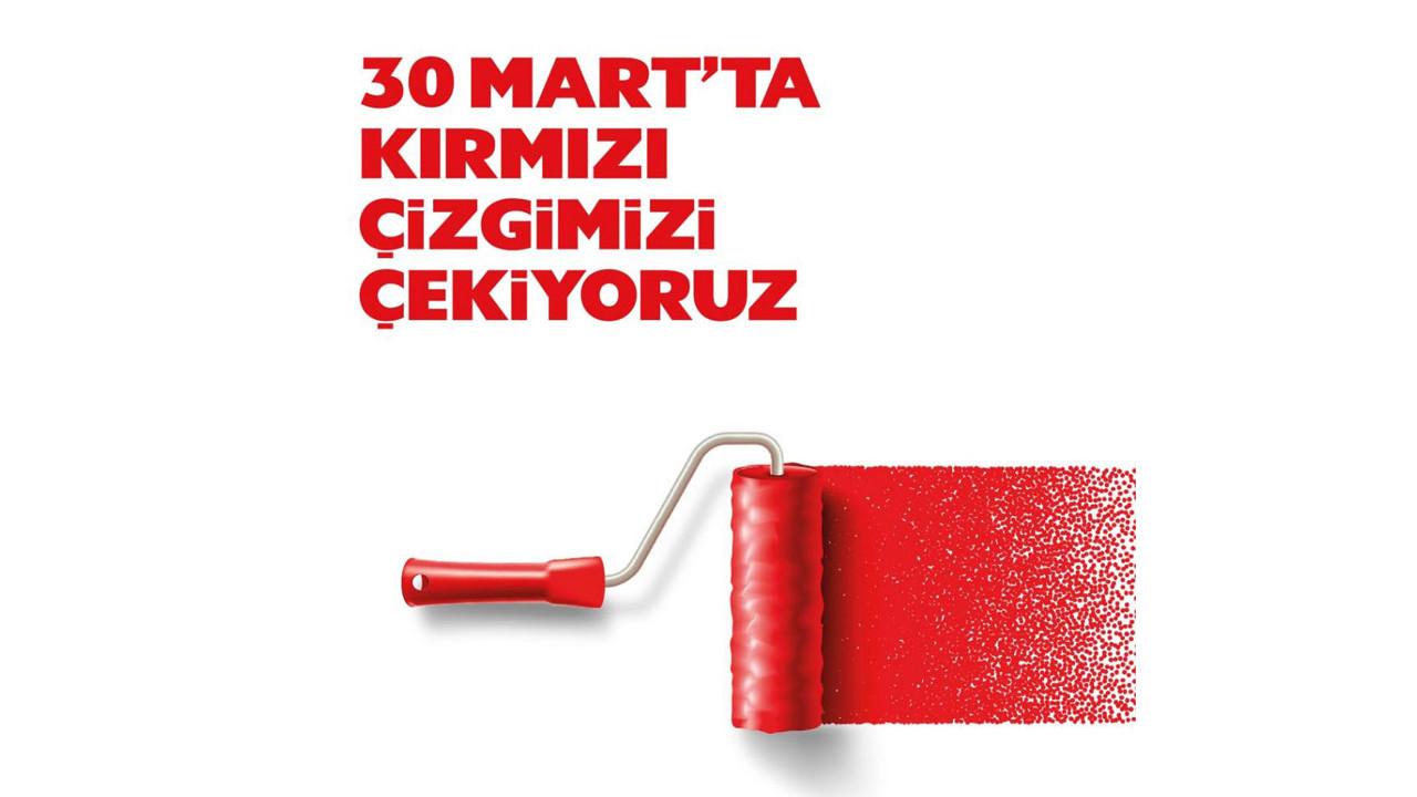 Bakan Soylu: ''30 Mart'ta kırmızı çizgimizi çekiyoruz''