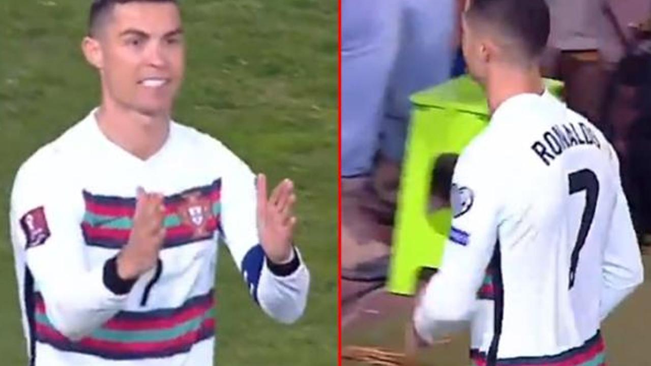 Çizgiyi geçen top gol sayılmayınca Ronaldo çılgına döndü!