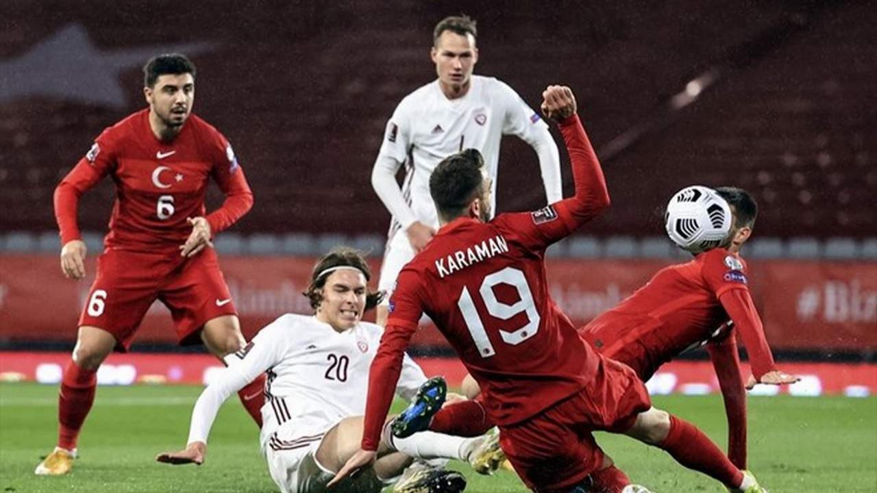 A Milliler yine üçledi ama bu sefer yetmedi! Türkiye: 3 - Letonya: 3