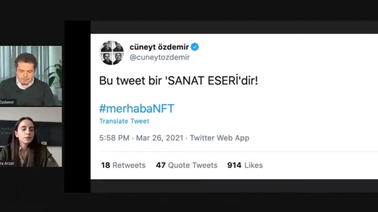 Cüneyt Özdemir, Türkiye'nin en pahalı NFT tweetini sattı