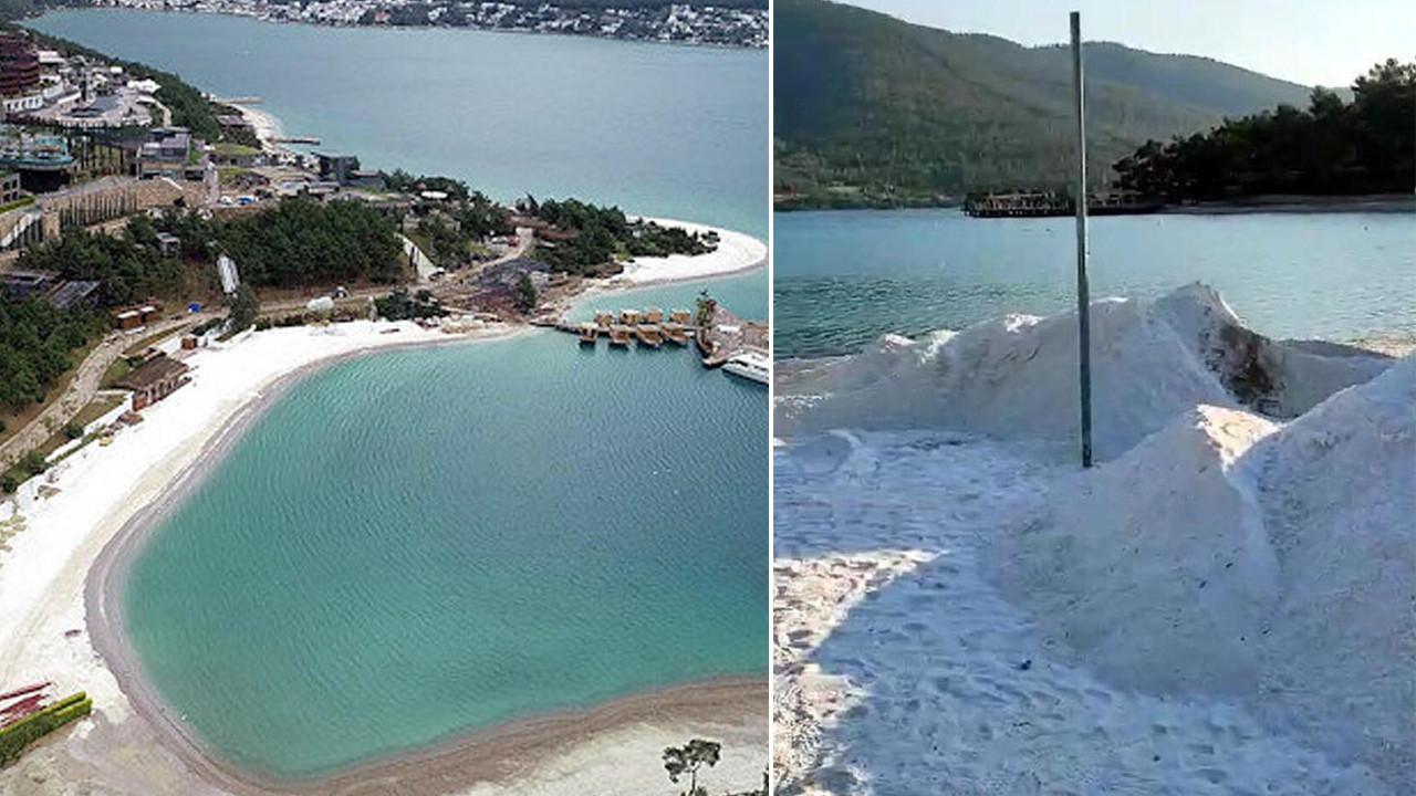 Bodrum plajlarındaki ''beyaz kum'' rezaletinde yeni gelişme