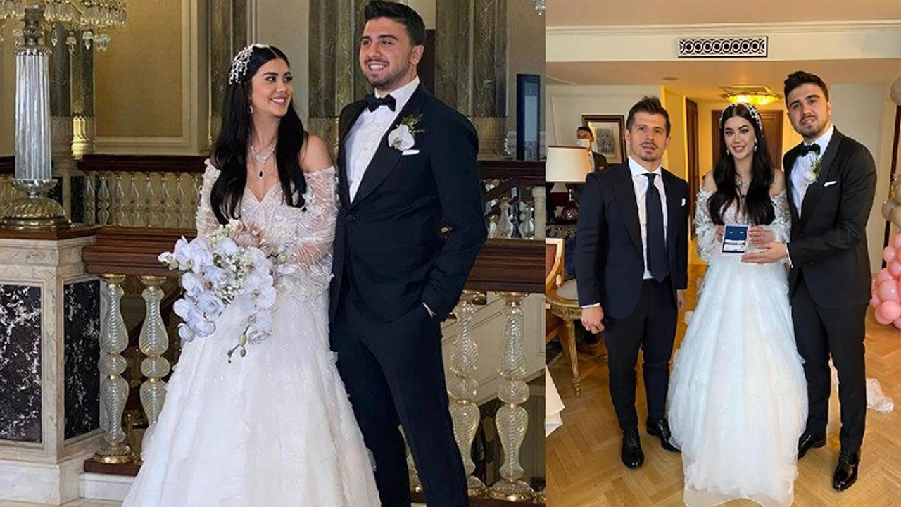 Fenerbahçeli futbolcu Ozan Tufan dünya evine girdi