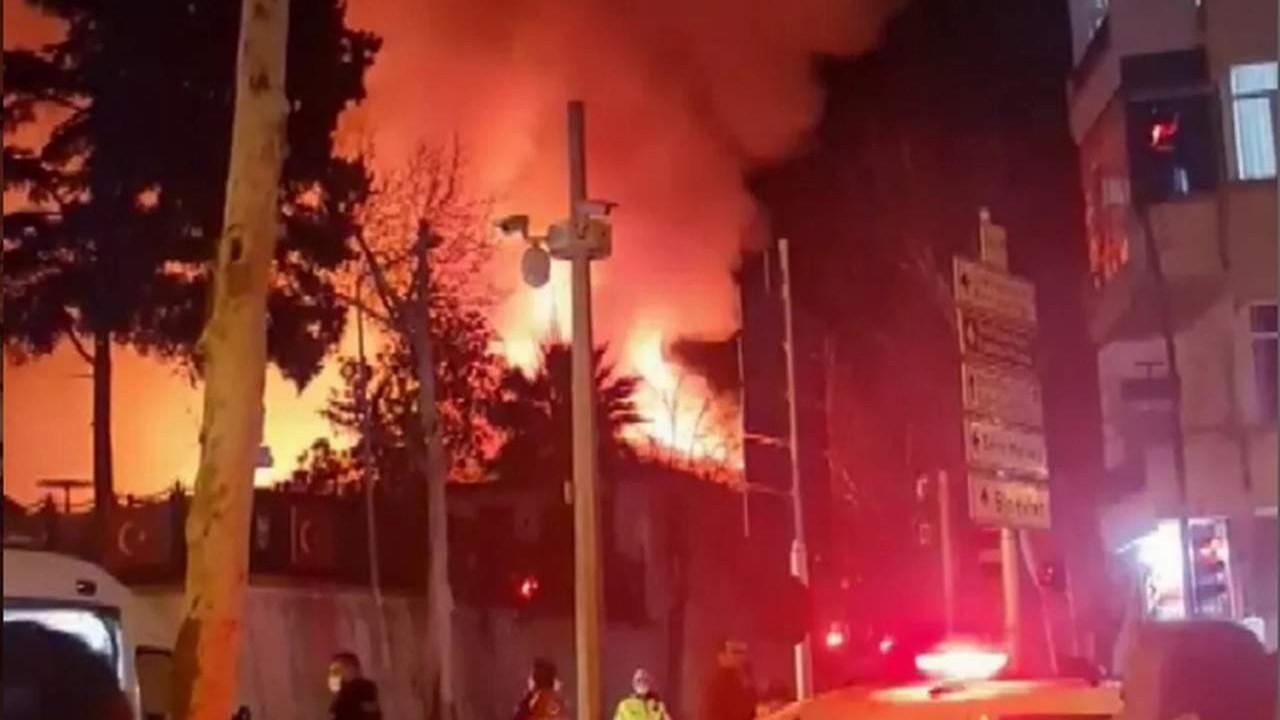 Kahramanmaraş Orduevi'nde korkutan yangın