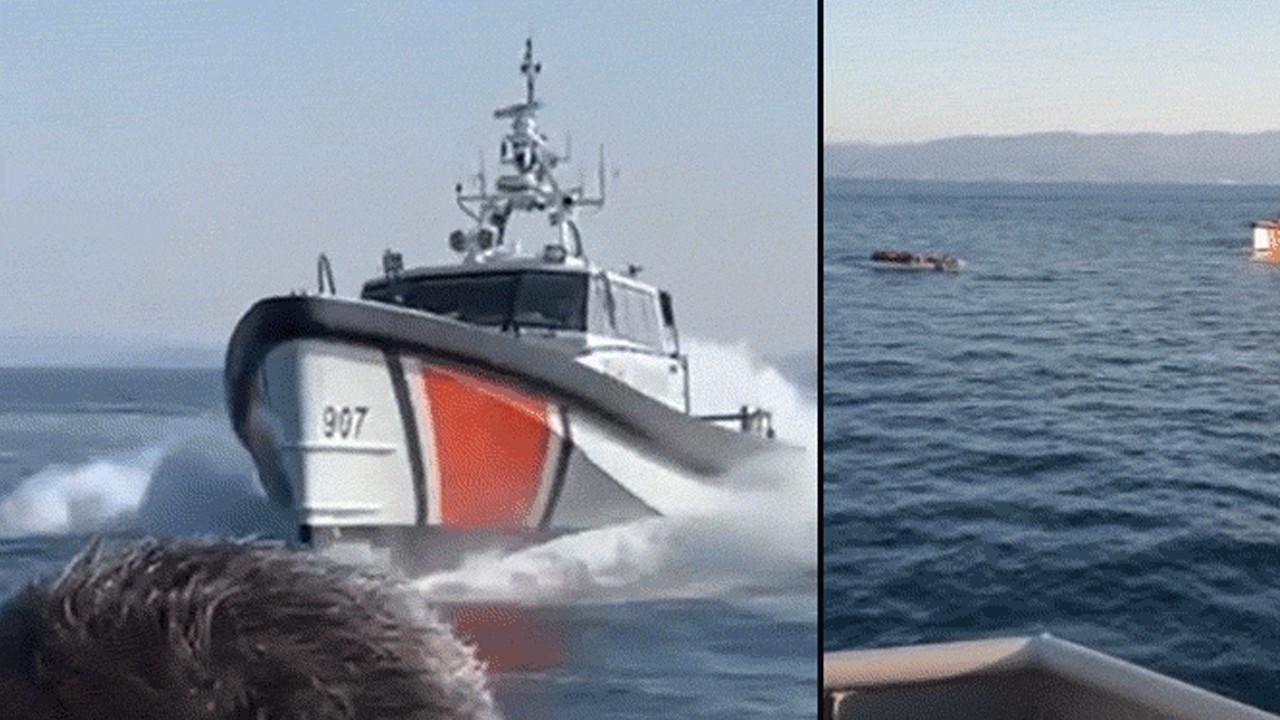 Ege'de sıcak temas! Yunan teknesi neye uğradığını şaşırdı