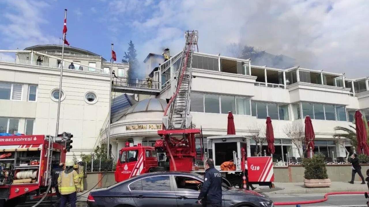 İstanbul'da polis evinde yangın