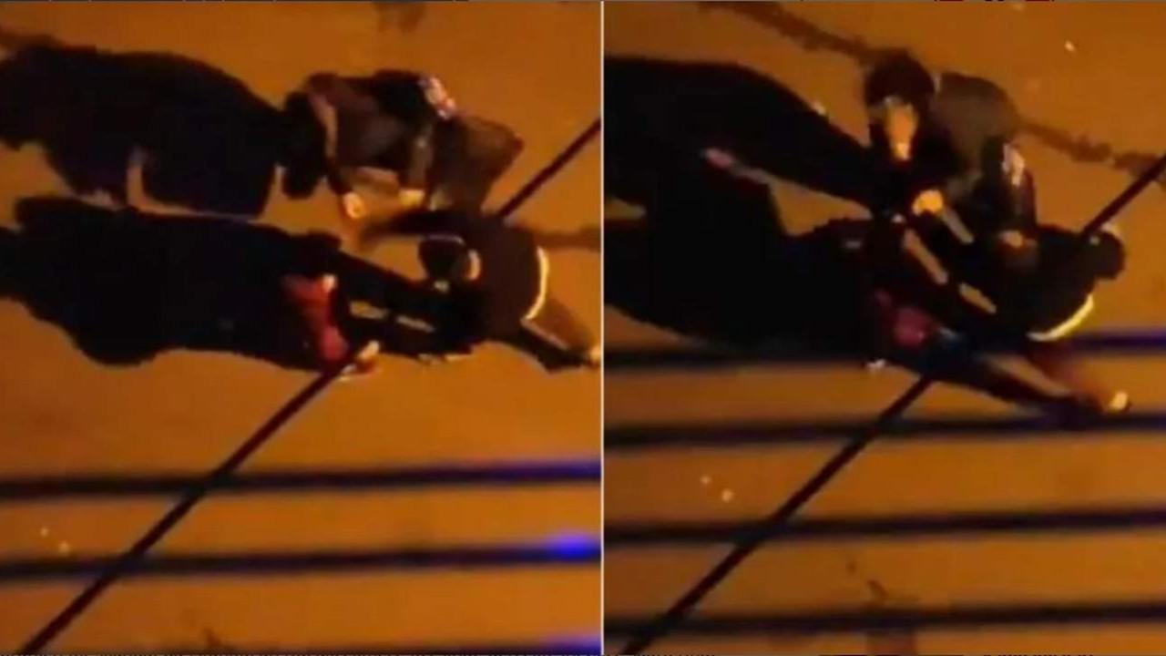 Sokak ortasında eşini, çocuğunun gözleri önünde dövdü!