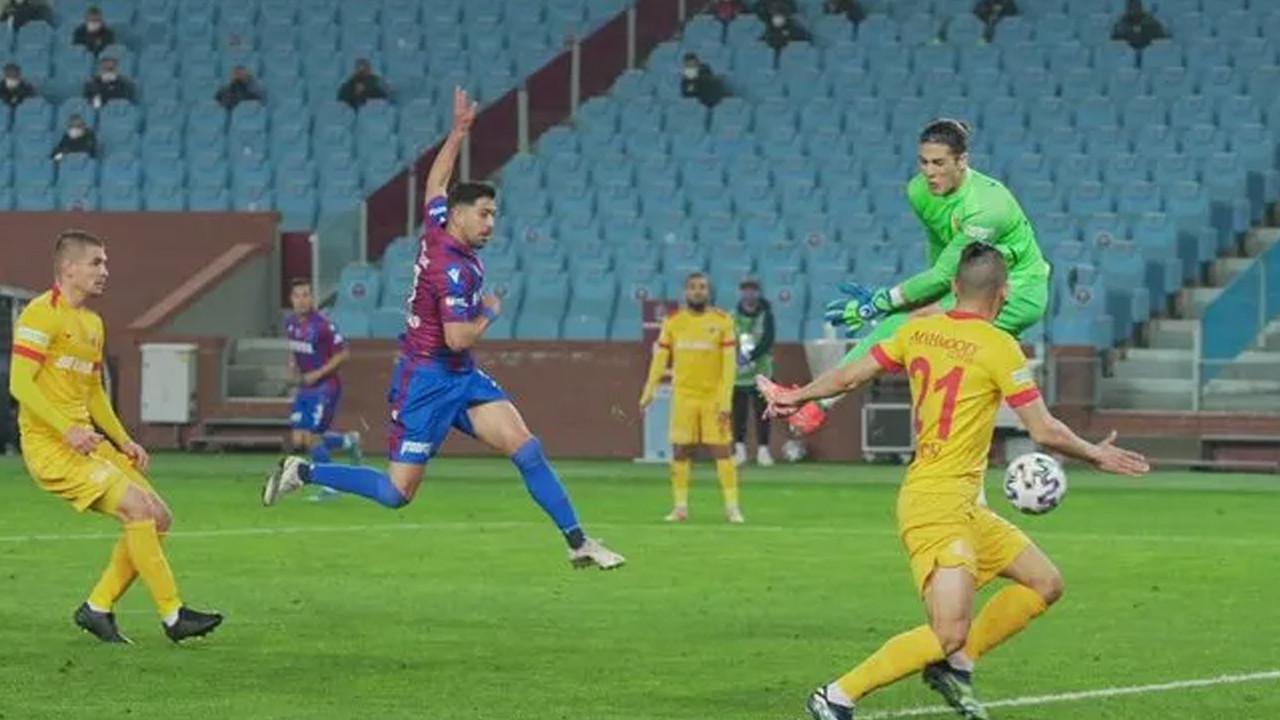 Bordo-Mavililer fırsatı tepti: Trabzonspor 1-1 Kayserispor