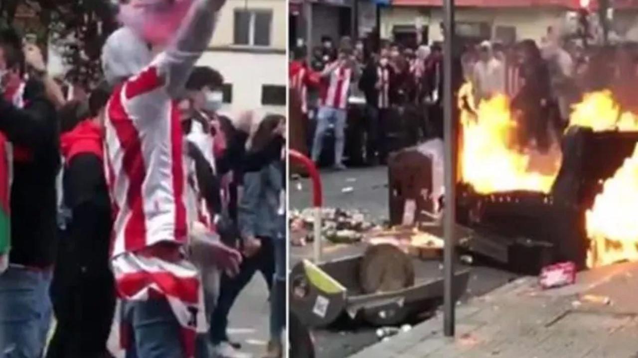 İspanya'da taraftar çıldırdı! Şehri ateşe verdiler