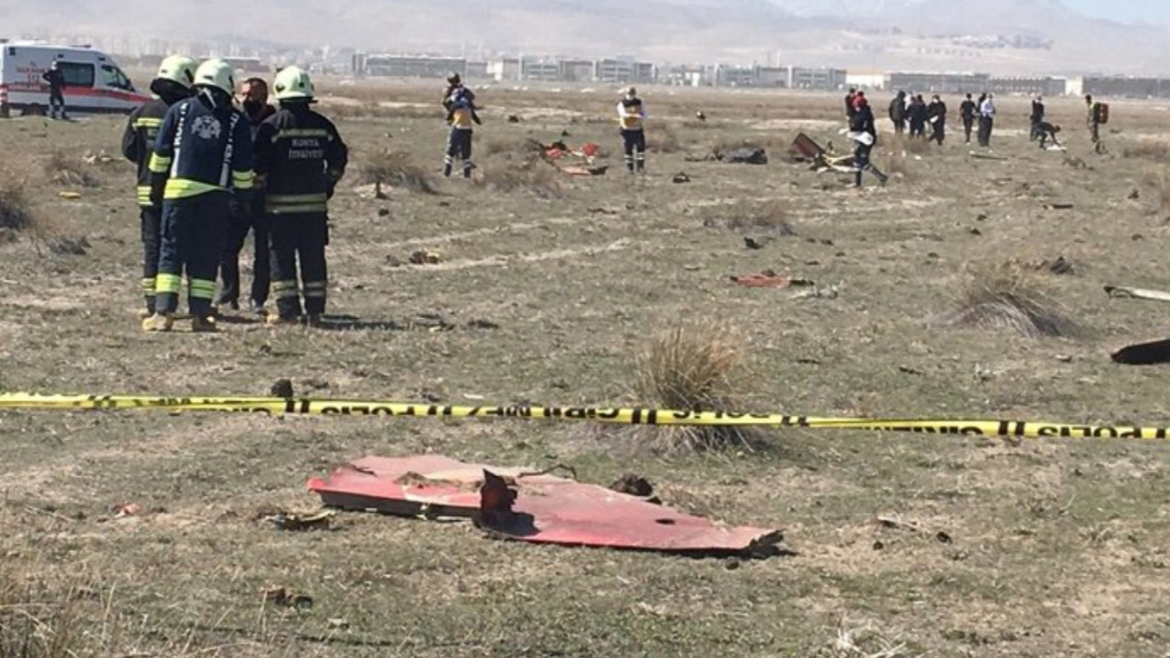 Konya'da düşen uçaktan acı haber: 1 askerimiz şehit oldu