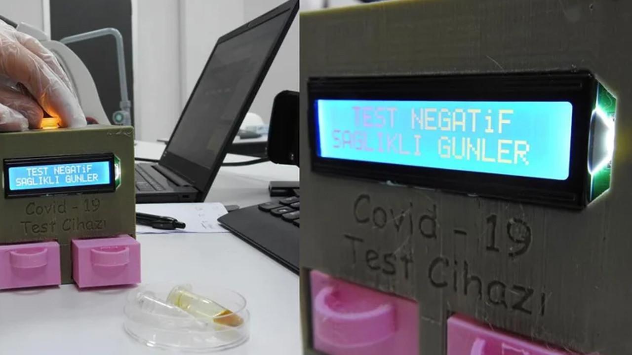 Lise öğrencileri koronavirüs test cihazı geliştirdi!