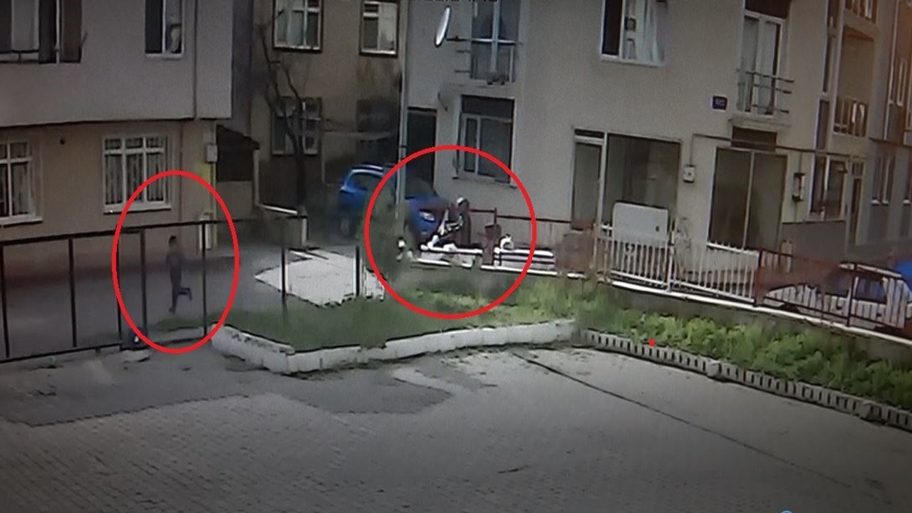 Güpegündüz çocuk kaçırma girişimi kamerada!