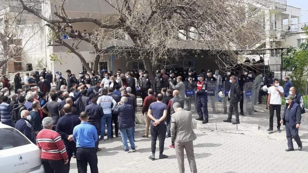 Maden ocağı protestosunda 5 gözaltı