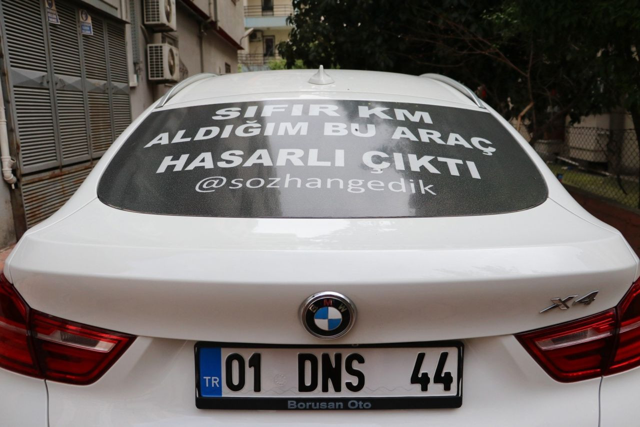 Sıfır kilometre aracı hasarlı çıkınca Türkiye'yi bu yazıyla dolaştı! - Resim: 3