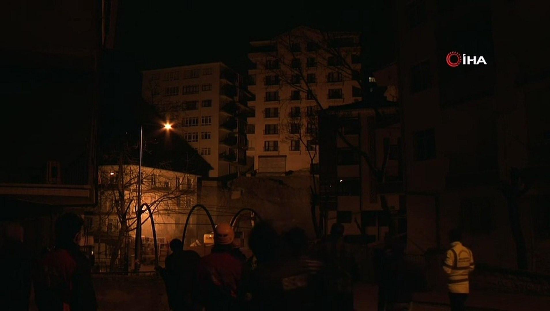 Ankara'da kabus gecesi! 21 bina boşaltıldı; geceyi sokakta geçirdiler!