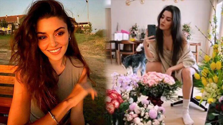 Hande Erçel'in ev hali sosyal medyayı salladı - Resim: 1