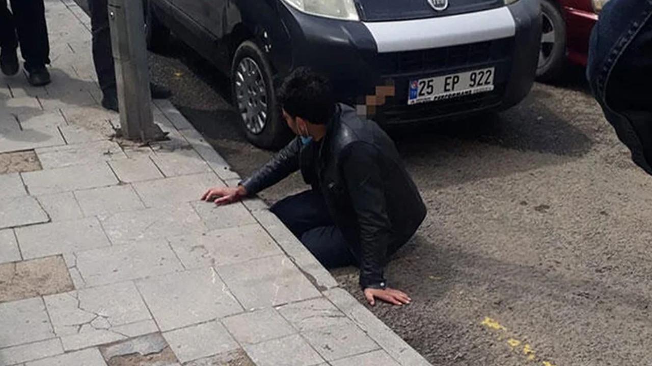 Erzurum'da kan donduran olay! Sırtındaki bıçakla hastaneye gitti
