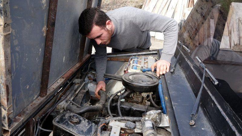 Hurdalardan 10 bin TL'ye kendi kamyonetini yaptı - Resim: 4