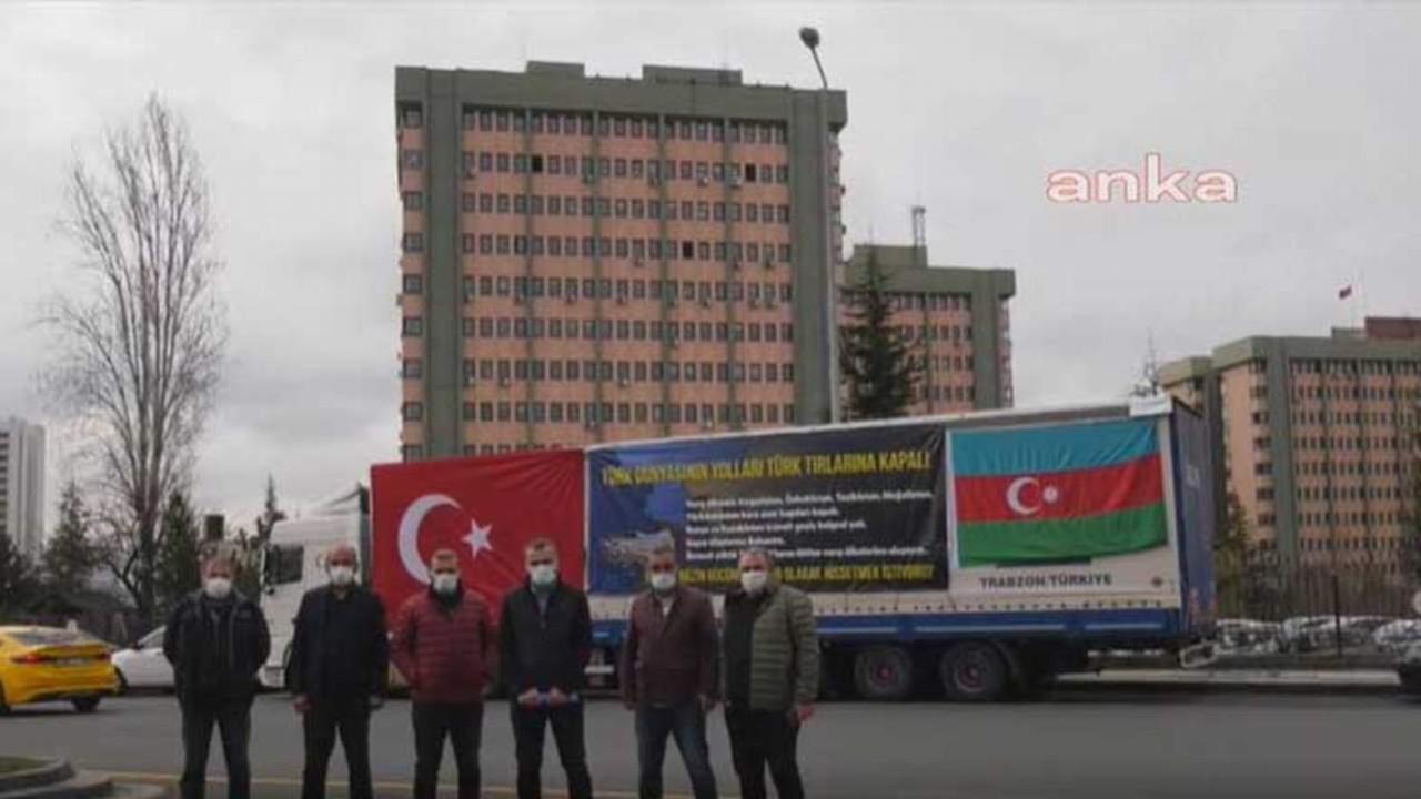 Bakanlığın önünde ''TIR'lı'' protesto!