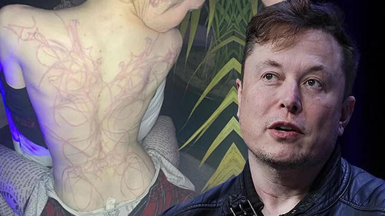 Elon Musk'un sevgilisi Grimes'in sırtını gören şoke oldu