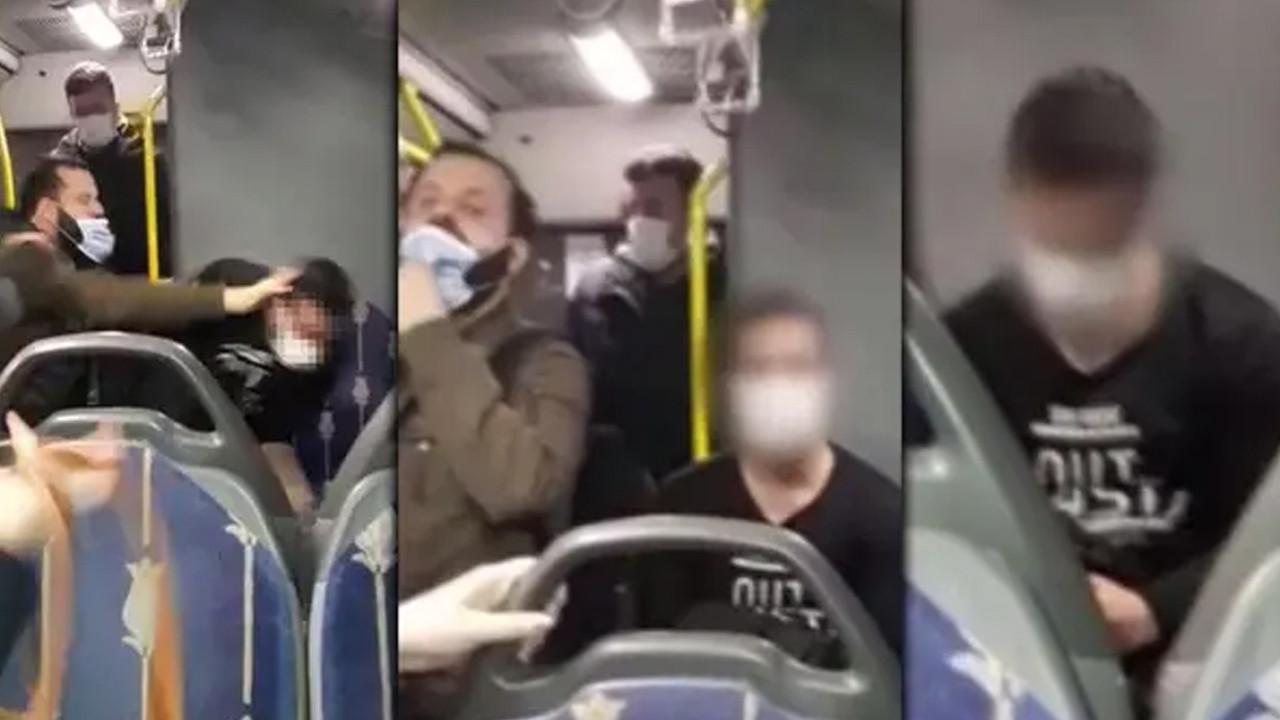 Metrobüste genç kadını taciz eden sapığa tokat anı kamerada