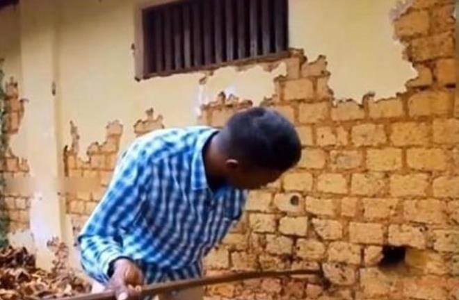 Duvardan gelen sesleri kontrol etmek istedi, hayatının şokunu yaşadı - Resim: 3