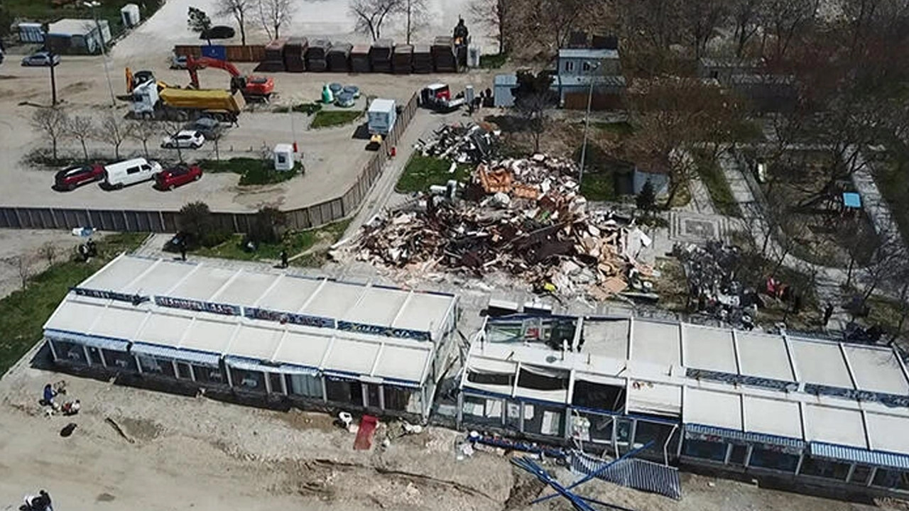 İstanbul'da mühürlenen gözlemecilerin yıkımına başlandı