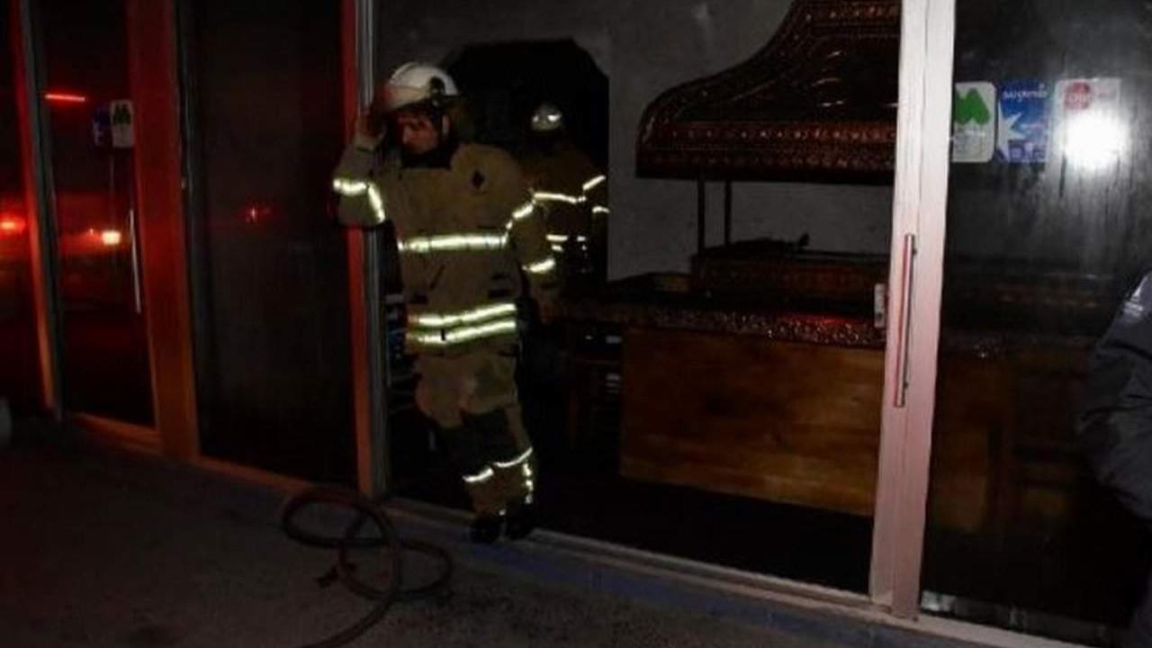 İzmir'de restoranda yangın