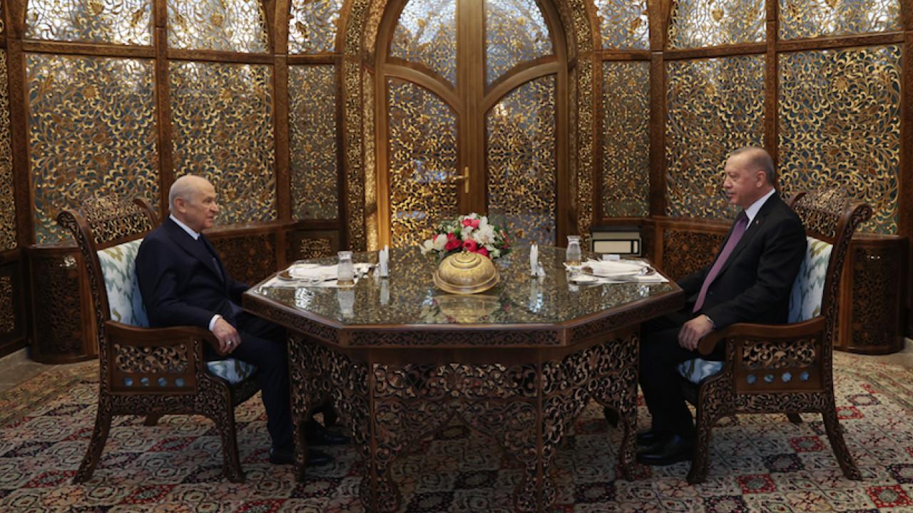 Cumhurbaşkanı Erdoğan ve Bahçeli beraber iftar yaptı