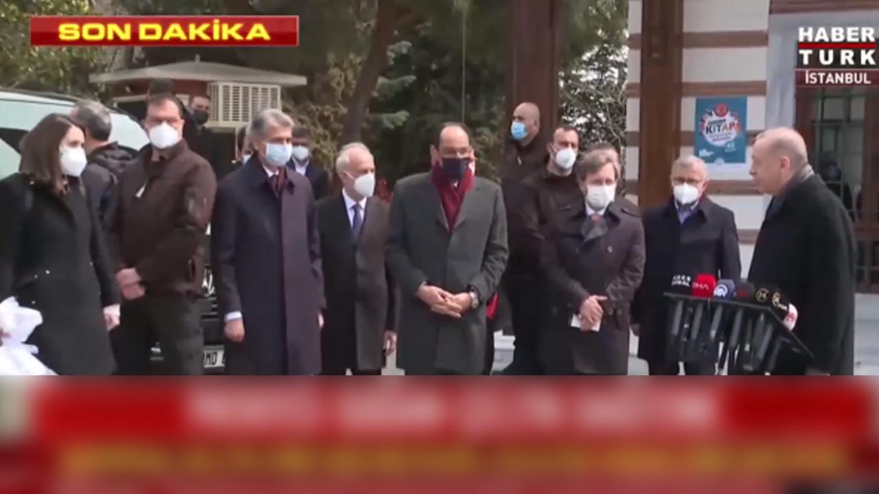 Gazetecilerden Erdoğan'a teşekkür çiçeği! ''Ne tatlı bir sürpriz ya''