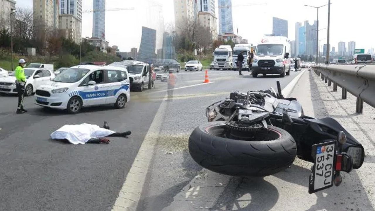 Korkunç kaza! Metrelerce sürüklenen motosikletli hayatını kaybetti