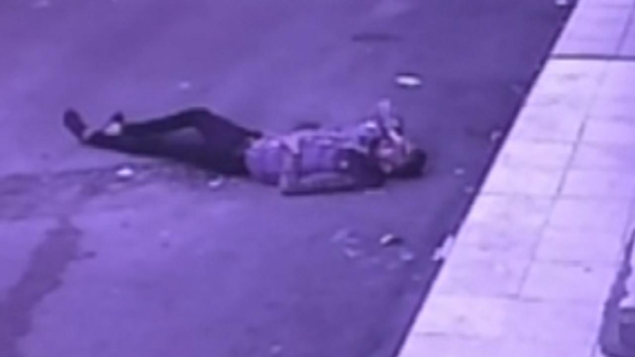 Evinin balkonundan düşme anı saniye saniye kameralara yansıdı