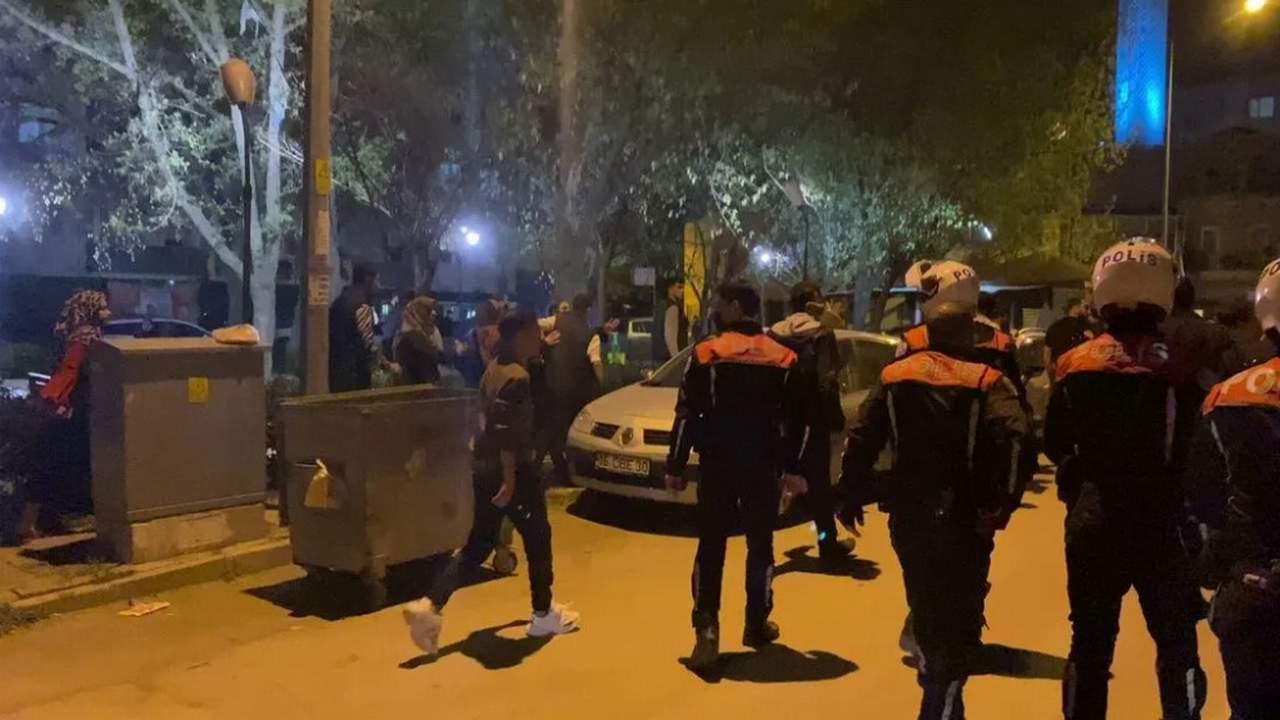 Aile kavgası, mahalle kavgasına döndü, Çevik Kuvvet müdahale etti