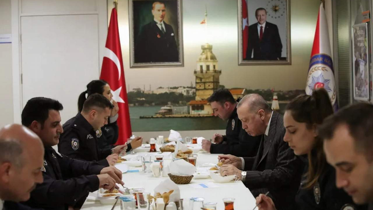 Erdoğan ve Soylu Polis Merkezi'nde iftar yaptı