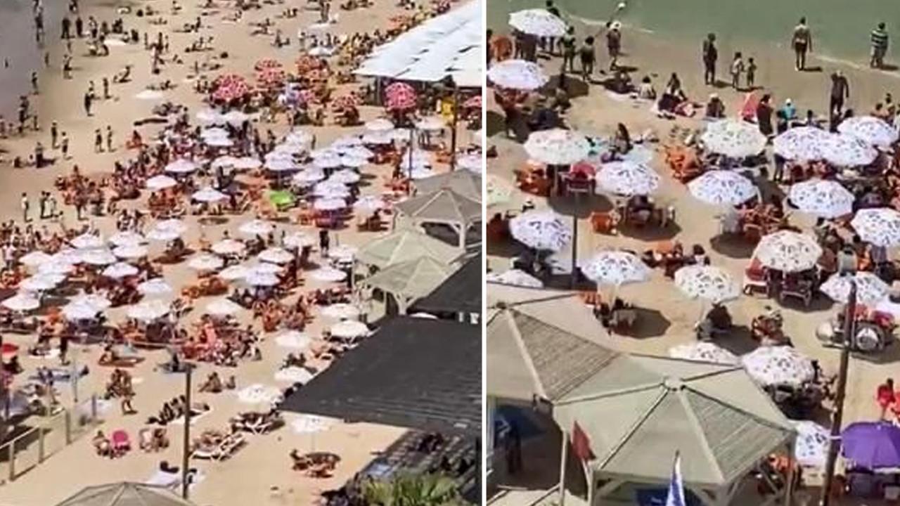 Maske yasağı kalktı, halk plajlara akın etti!