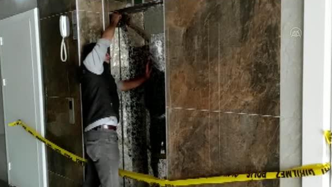 Asansör yere çakıldı! Oğlunun hayatını böyle kurtardı
