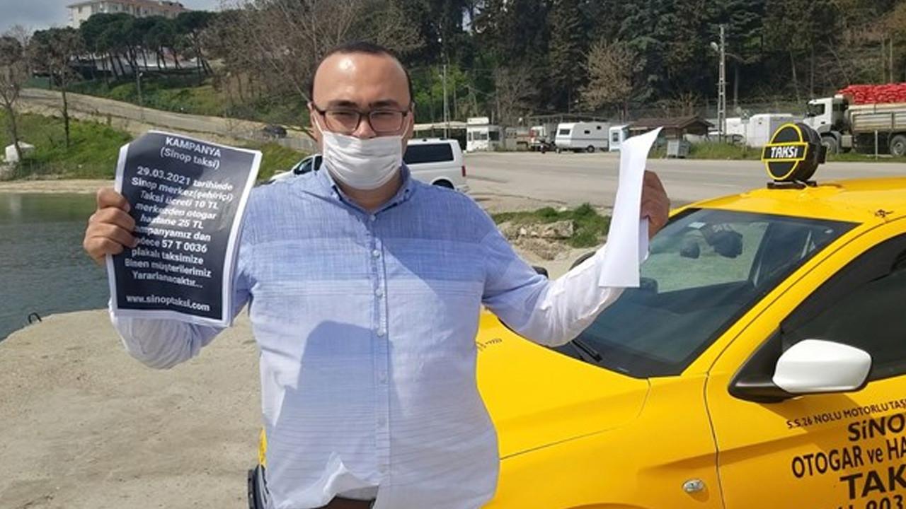 Pandemide indirim yapan taksiciye ceza!