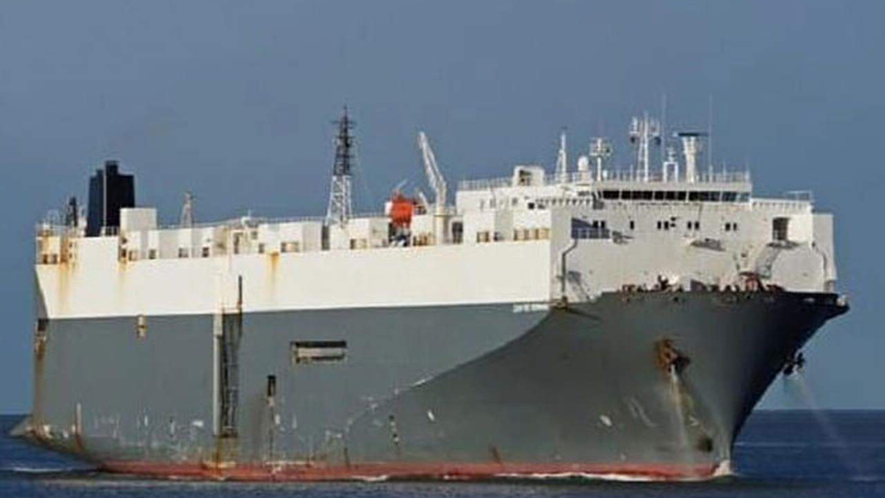 Tuzla'da dev gemi karaya oturdu