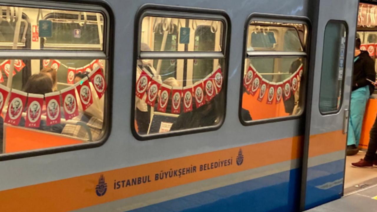 İBB, toplu taşıma araçlarını bayraklarla süsledi