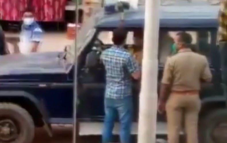 Polisin ''maske cezası tokadı'' kamerada!