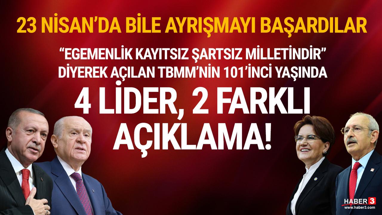 Erdoğan, Bahçeli, Kılıçdaroğlu ve Akşener 23 Nisan mesajlarında da karşı karşıya