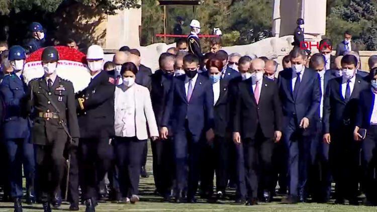 Erdoğan ve Bahçeli Anıtkabir'e gelmedi - Resim: 1