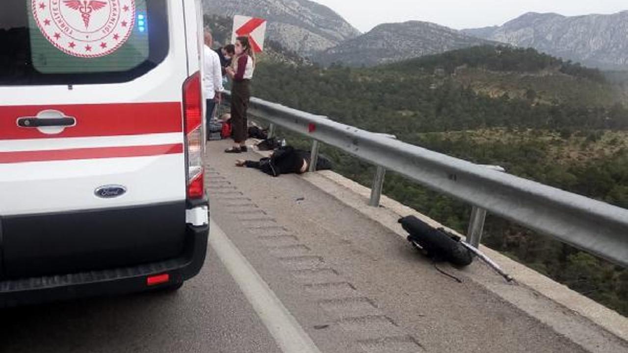Antalya'da feci motosiklet kazası: 2 ölü