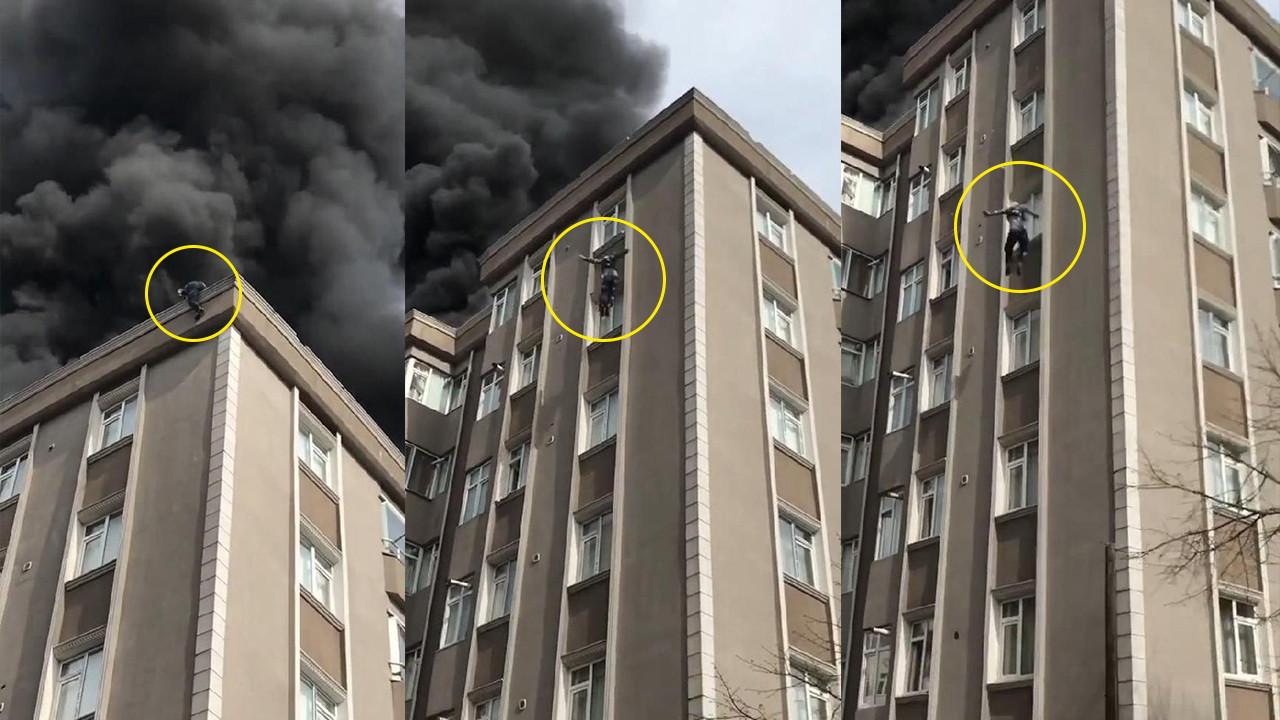 İstanbul'da dehşet anları! Çatıdan böyle atladı