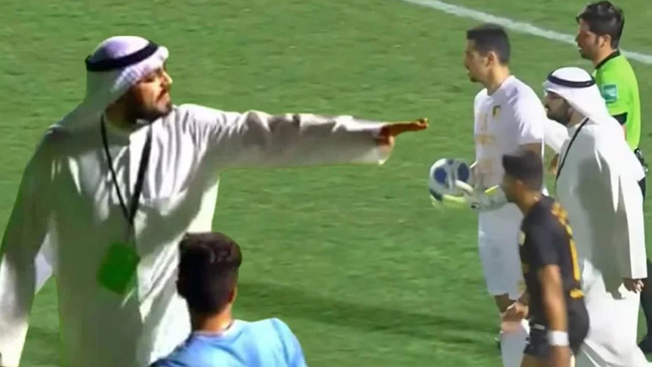 Akılalmaz olay! Kulüp başkanı sahayı basıp penaltıyı iptal ettirdi!