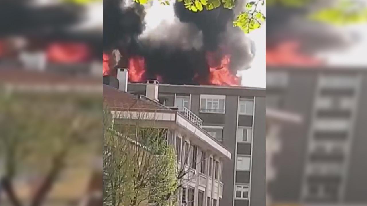 İstanbul'da 6 katlı binada yangın paniği