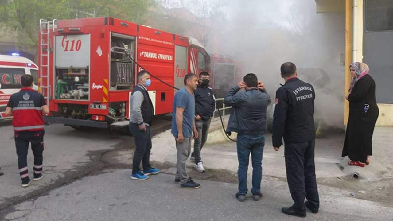 İstanbul'da mobilya atölyesinde yangın!