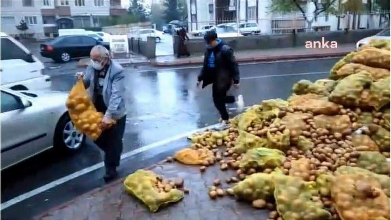 Bedava patatesleri sokağa döktüler