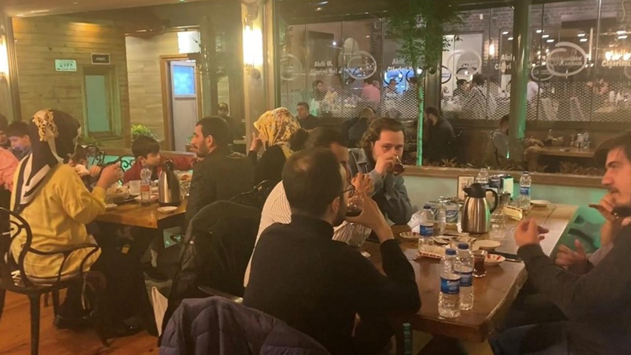 İstanbul'da kaçak iftara polis baskını